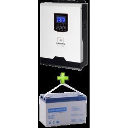 Комплект ИБП для котла (до 30кВт) и системы отопления (вариант 1)