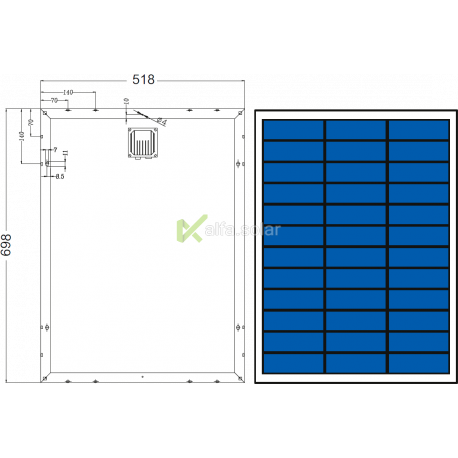 Солнечная батарея Axioma AX-50P