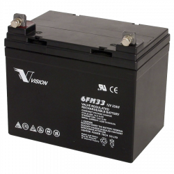 Акумуляторна батарея Vision 6FM33 12V 33Ah