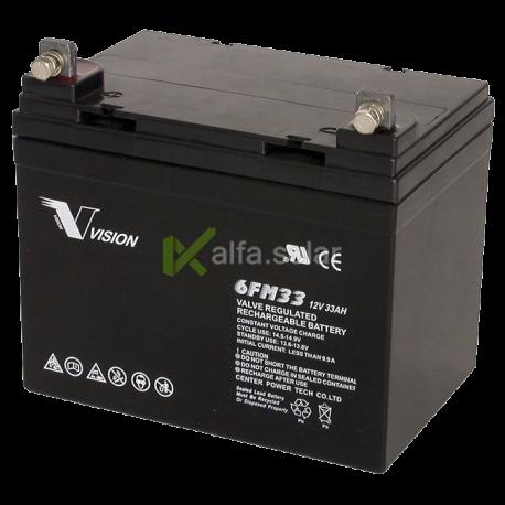 Аккумуляторная батарея Vision 6FM33 12V 33Ah
