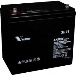 Акумуляторна батарея Vision 6FM55 12V 55Ah