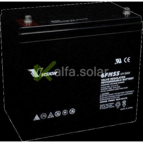 Аккумуляторная батарея Vision 6FM55 12V 55Ah