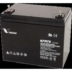 Акумуляторна батарея Vision 6FM75 12V 75Ah