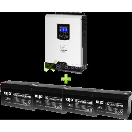 Комплект ИБП для котла (до 30кВт) и системы отопления (4 АКБ)