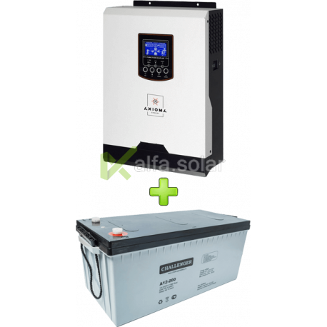 Комплект ДБЖ для котла (до 30 кВт) і системи опалення 200Ah