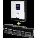 Комплект ДБЖ для котла (до 15кВт) та системи опалення (3 АКБ)