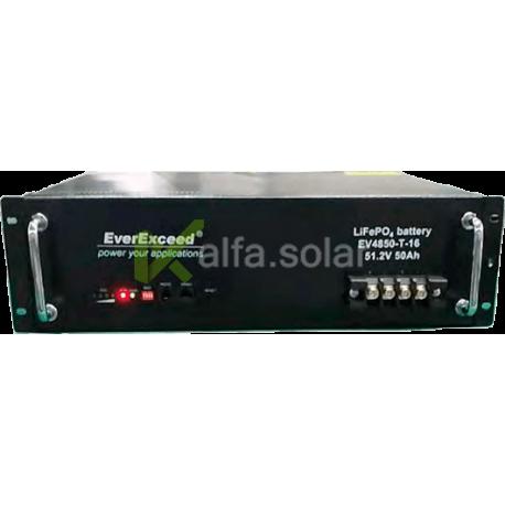 Литий-железо-фосфатный аккумулятор (LiFePO4) EverExceed EV4850-T-16 (51,2В50Aч)