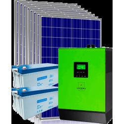 Гибридная сетевая солнечная электростанция 3кВт (с возможностью работы по зеленому тарифу)