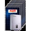 Сетевая солнечная электростанция 5кВт (II вариант)