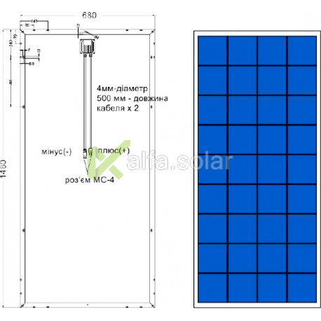 Солнечная батарея Axioma AX-160P