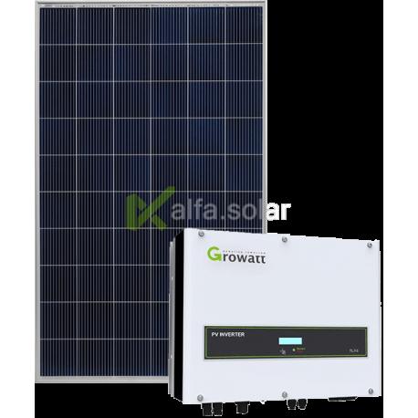 Сетевая солнечная электростанция 12кВт (Growatt)