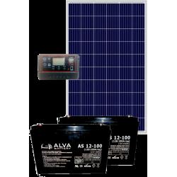 Комплект сонячних батарей 380Вт 24В