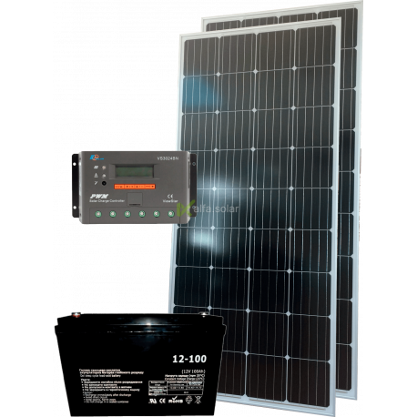 Комплект сонячних батарей 320Вт 12В