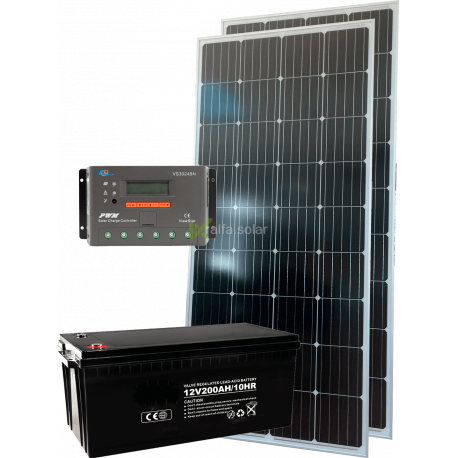 Комплект солнечных батарей 330Вт 12В монокристал