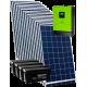 Гибридная сетевая солнечная электростанция 5кВт (с возможностью работы по зеленому тарифу)