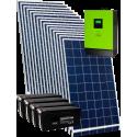Гібридна мережева сонячна електростанція 5кВт (з можливістю роботи за зеленим тарифом)