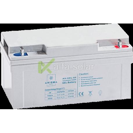 Свинцово-углеродный АКБ Axioma AX-Gel-65