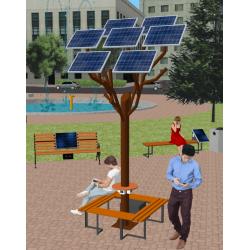 Сонячне Wi-Fi дерево ASolarTree 7ST40