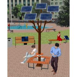 Сонячне Wi-Fi дерево ASolarTree