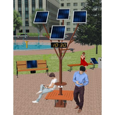 Солнечное Wi-Fi дерево ASolarTree 4ST40