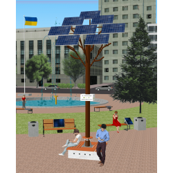 Солнечное Wi-Fi дерево ASolarTree 8ST40