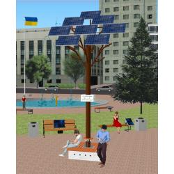 Сонячне Wi-Fi дерево ASolarTree 8ST40