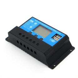 Контроллер заряда Juta 10А DY1024 12/24В с дисплеем + 2xUSB (Solar Charge Controller) заряд Li-ion