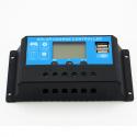 Контроллер заряда Juta 20А DY2024 12/24В с дисплеем + 2xUSB (Solar Charge Controller) заряд Li-ion