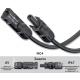 MC4 конектори пара (мама+папа) 4/6 мм.кв., конектори для сонячних батарей, роз'єми для сонячних батарей