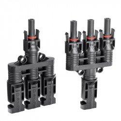Коннектор соединительный тройной Four-way MC4 пара