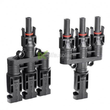 Four-way MC4 пара конектори з'єднувачі пара (мама+папа) 4/6 мм.кв., конектори для сонячних батарей
