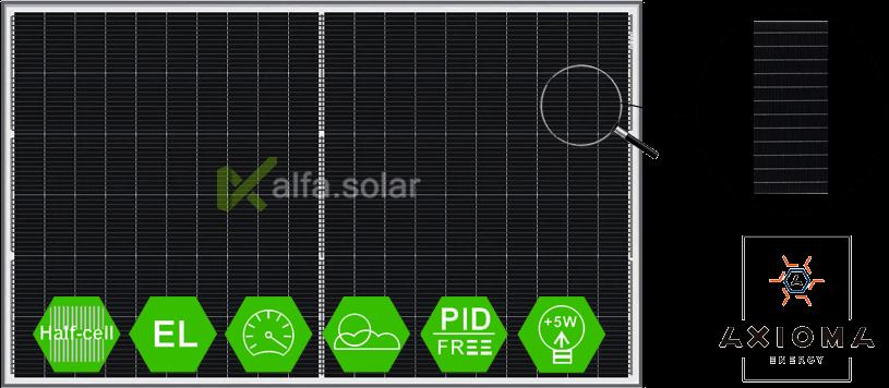 Солнечная батарея 290Вт 12BB,  AXIOMA AXP120-12-156-290 мультибайпасбар