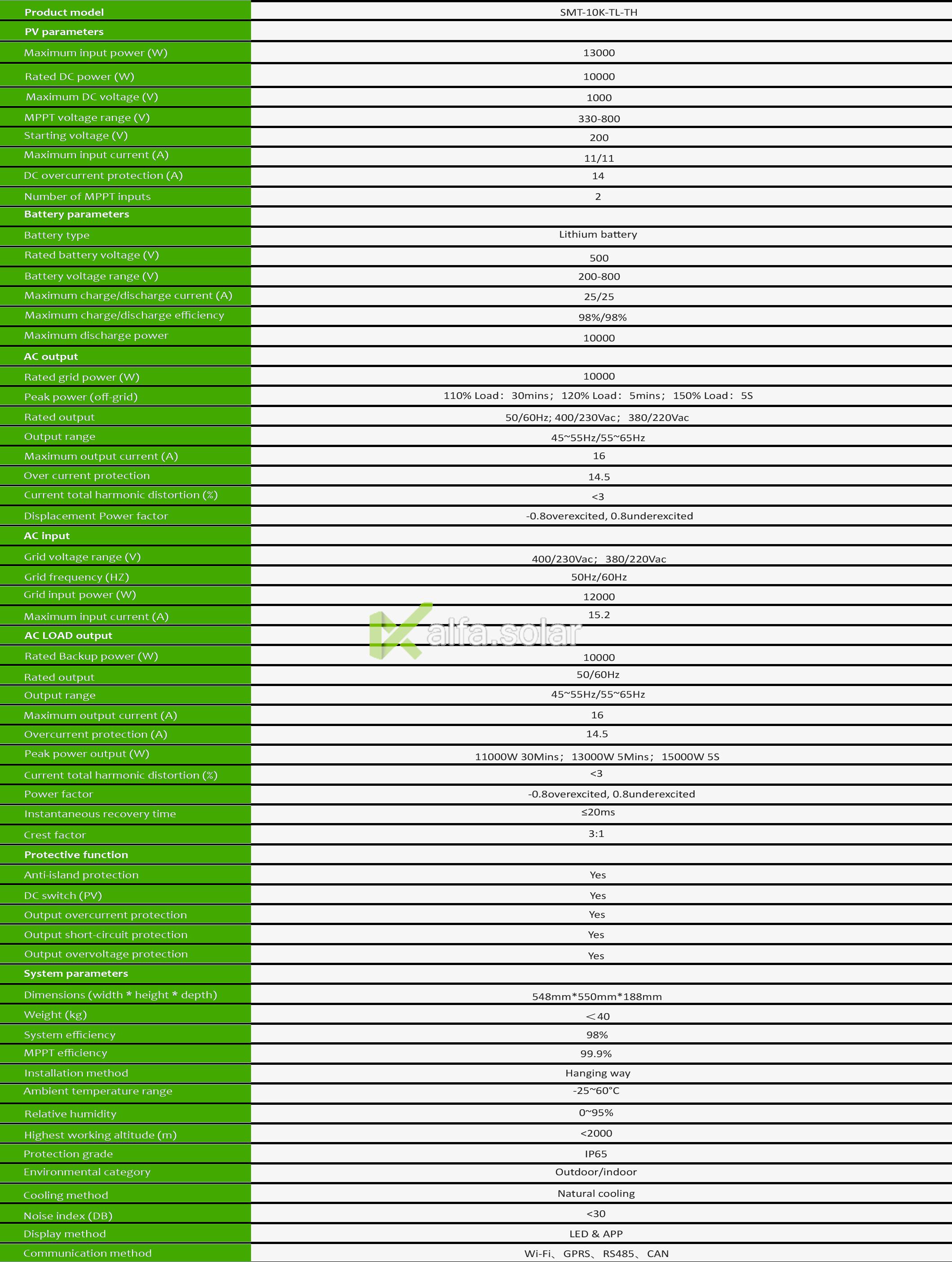 Sermatec SMT-10K-TH-HV